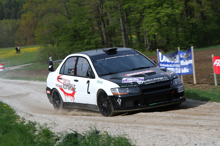 Sieger der 22. ADAC-Rallye Nürnberger Land: Rudolf Reindl und Michael Ehrle